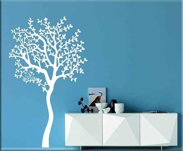 decorazioni da parete albero love arredo