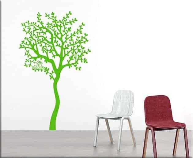 decorazioni murali albero love arredo