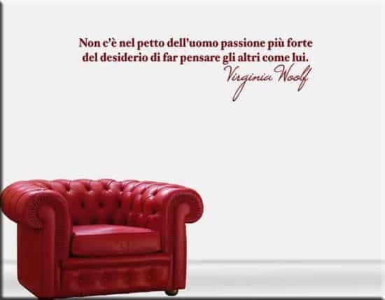 decorazioni murali frase virginia woolf