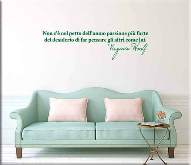 wall stickers frase virginia woolf