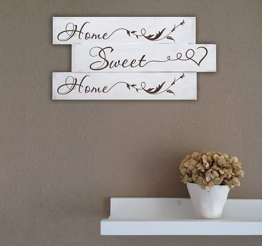Arredo shabby chic pannelli murali in legno home sweet