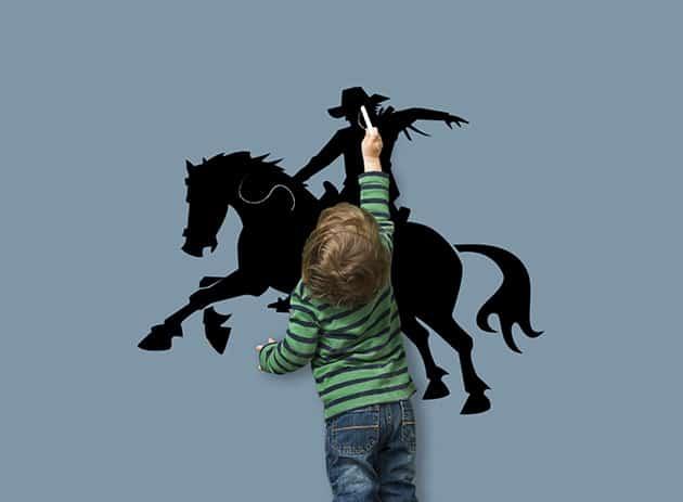 Lavagne adesive da parete cowboy bambini