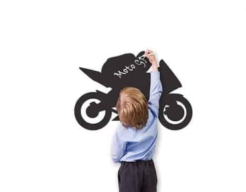 Lavagne adesive da parete moto bambini