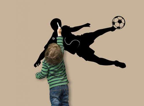 Lavagne adesive murali calcio calciatore