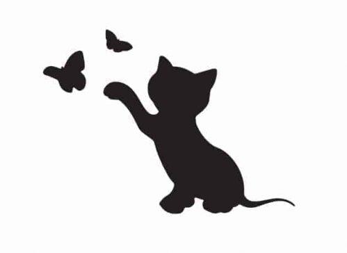 Lavagne adesive murali gatto farfalle