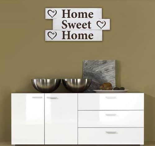 Pannelli decorativi shabby chic in legno frase casa home