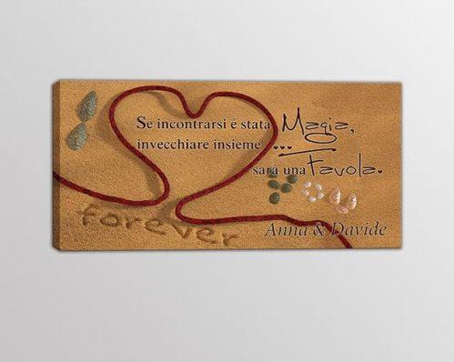 Quadro moderno personalizzato frase amore