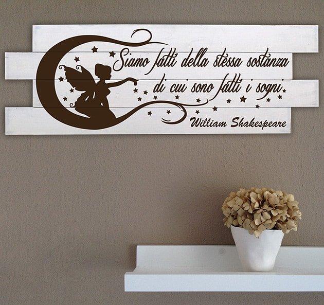 Shabby chic pannelli decorativi frase shakespeare for Pannelli da parete decorativi