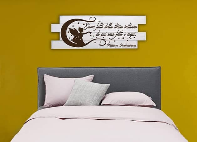 Shabby chic pannelli decorativi frase Shakespeare