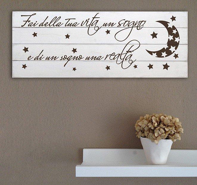 Shabby chic pannelli decorativi in legno da parete frase