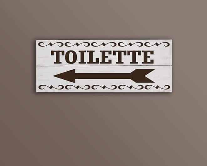Shabby chic pannelli decorativi in legno toilette