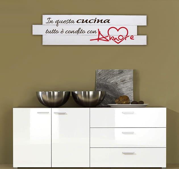 Shabby chic pannelli decorativi legno frase cucina