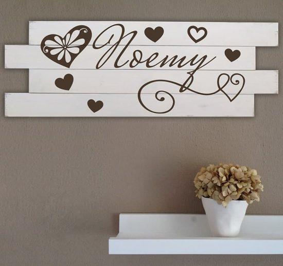 Shabby chic pannelli in legno personalizzati da parete