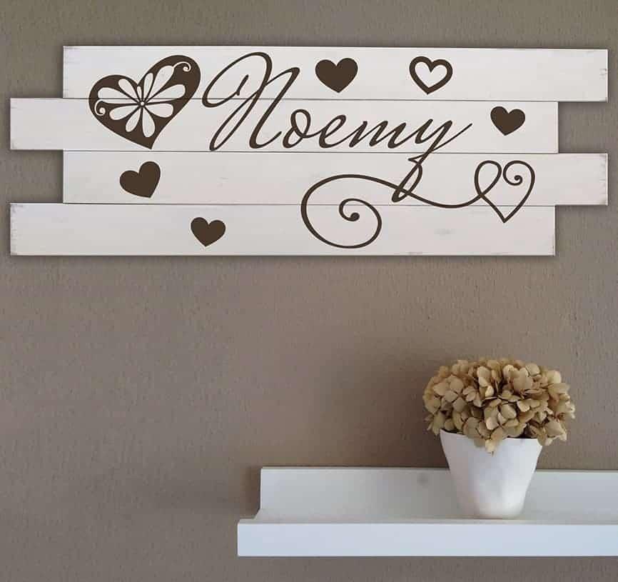 Shabby chic pannelli in legno personalizzati da parete - Quadri fonoassorbenti decorativi ...