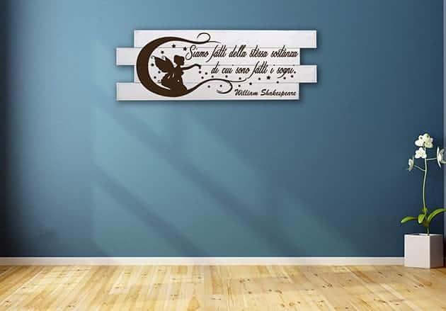 Shabby chic pannelli decorativi frase shakespeare - Pannelli decorativi murali ...
