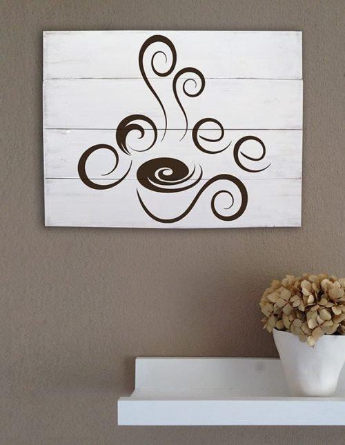 Shabby chic pannelli murali in legno coffee bar