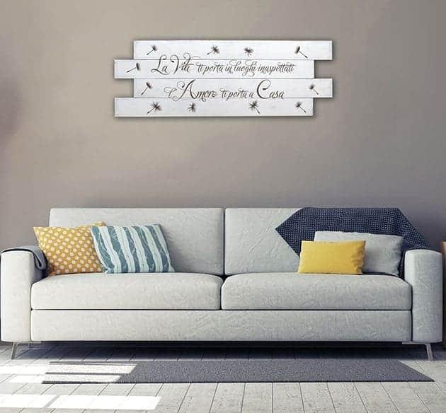 Shabby chic style pannelli da parete in legno frase casa