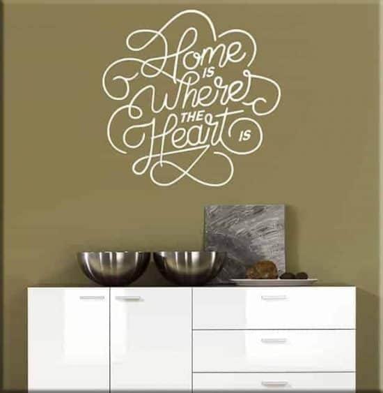 adesivi da parete arredo frase home casa