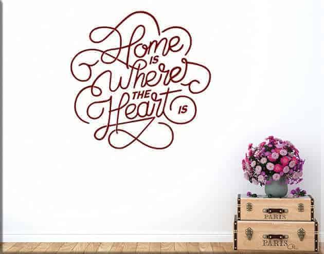 adesivi murali arredo frase home casa