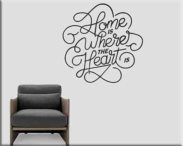 decorazioni murali arredo frase home casa