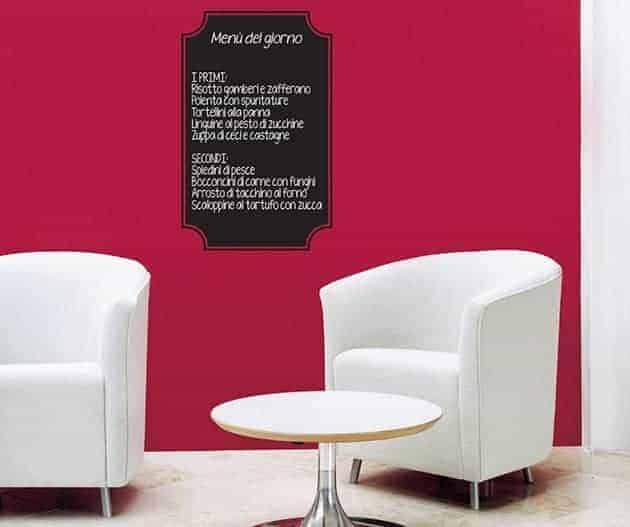 lavagna adesiva menu ristorante