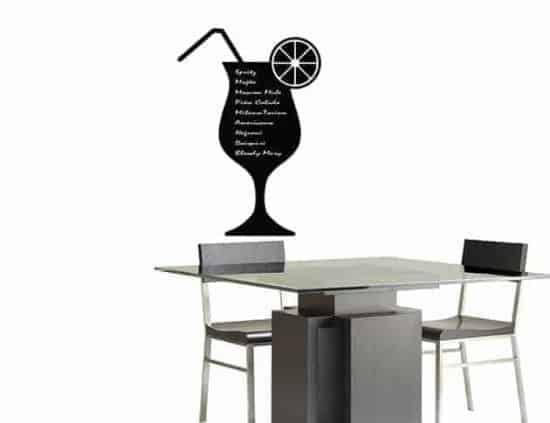 lavagne adesive murali menu cocktail bar