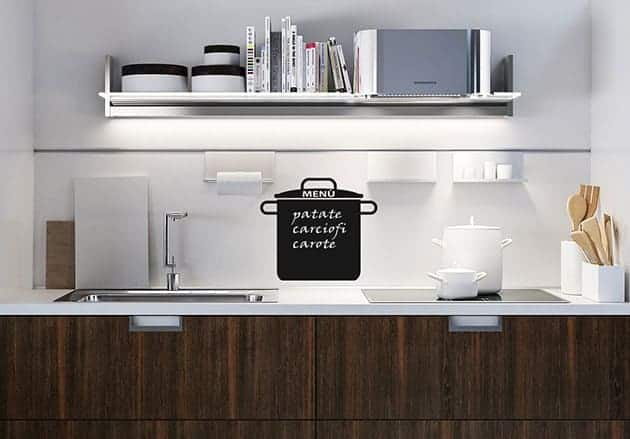 Lavagne adesive murali pentola cucina for Scritte adesive cucina