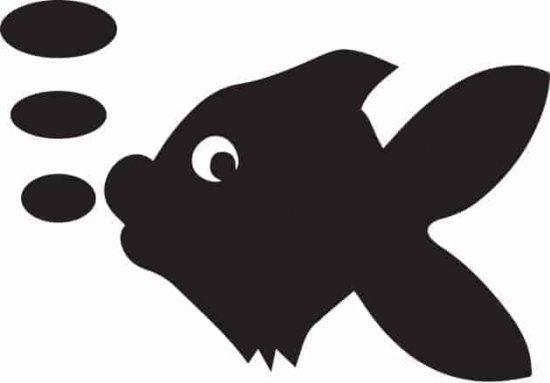 lavagne adesive murali pesce bambini arredo