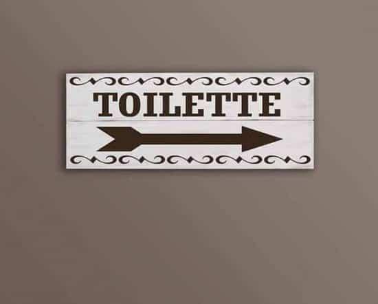 pannelli decorativi in legno toilette shabby chic