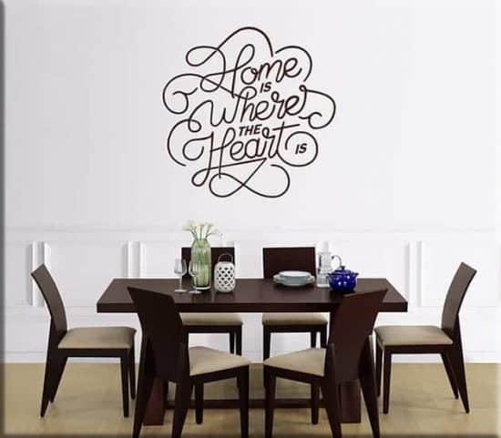 wall stickers arredo frase home casa