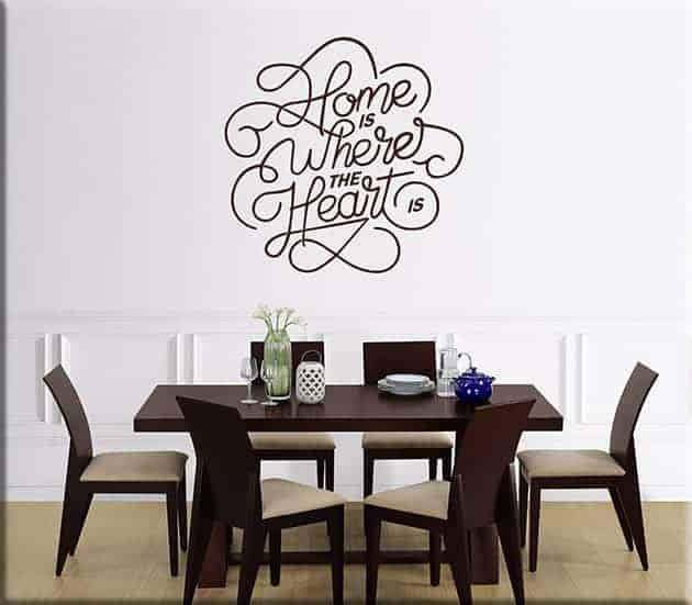 wall stickers arredo frase home casa