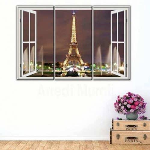 Tris quadri moderni stampa tela Parigi