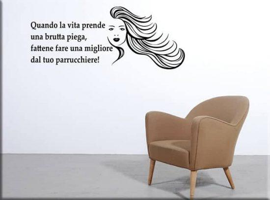 adesivi murali frase divertente parrucchiere