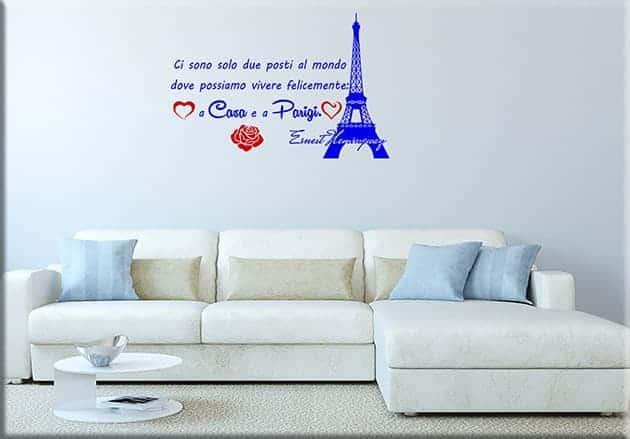 decorazioni murali frase casa Parigi Ernest Hemingway