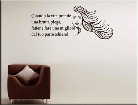 decorazioni murali frase divertente parrucchiere