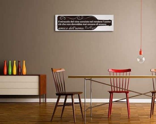 pannelli decorativi in legno Shabby chic frase vino