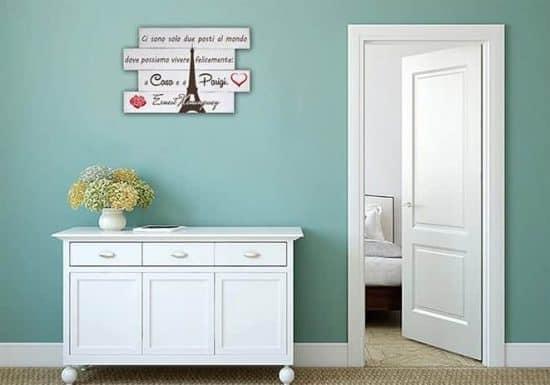 pannelli decorativi in legno shabby chic fraseHemingway