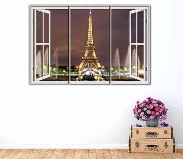 quadri moderni finestra Parigi stampe