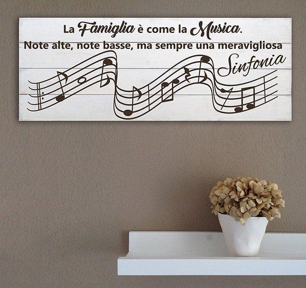 shabby chic pannelli decorativi in legno famiglia musica