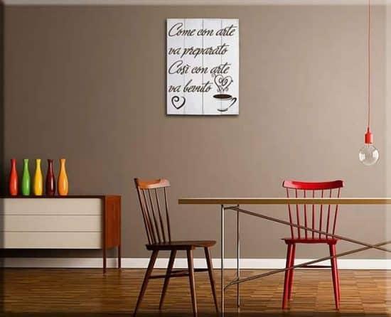 shabby chic pannelli decorativi in legno frase caffè bar