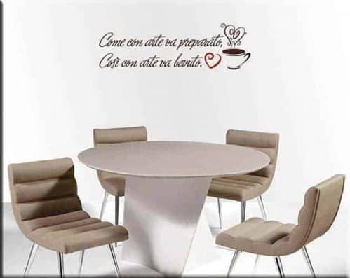 wall stickers frase caffè bar arredo