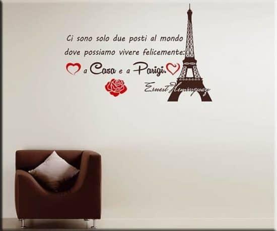 wall stickers frase casa Parigi Ernest Hemingway