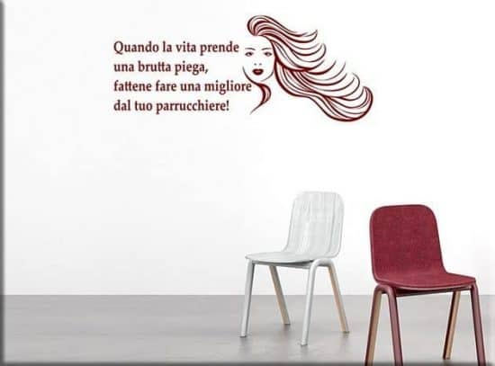 wall stickers frase divertente parrucchiere