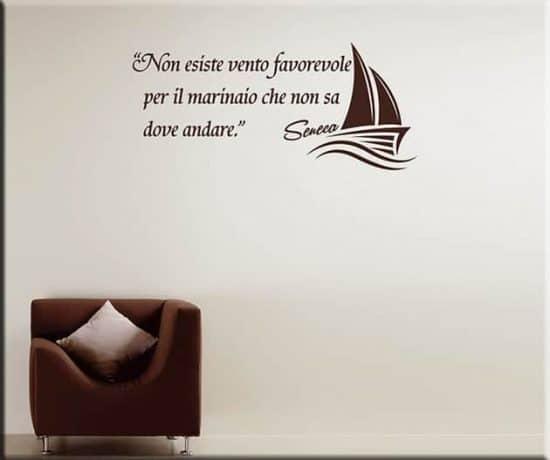 wall stickers frase marinaio Seneca arredo