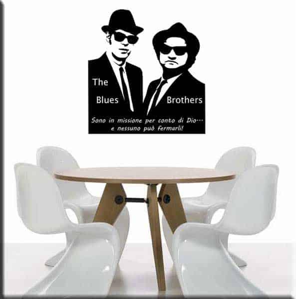 Adesivi da parete Blues Brothers frase