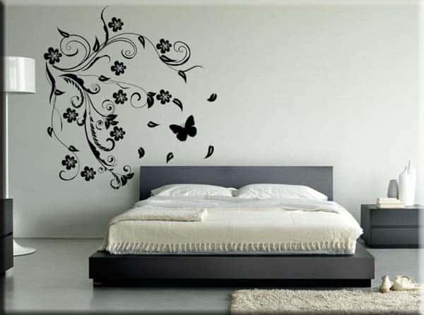 Adesivi da parete fiori stilizzati arredo design - Specchi adesivi da parete ...