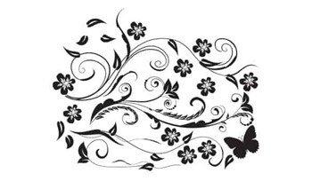 fiori stilizzati in adesivi murali da comporre