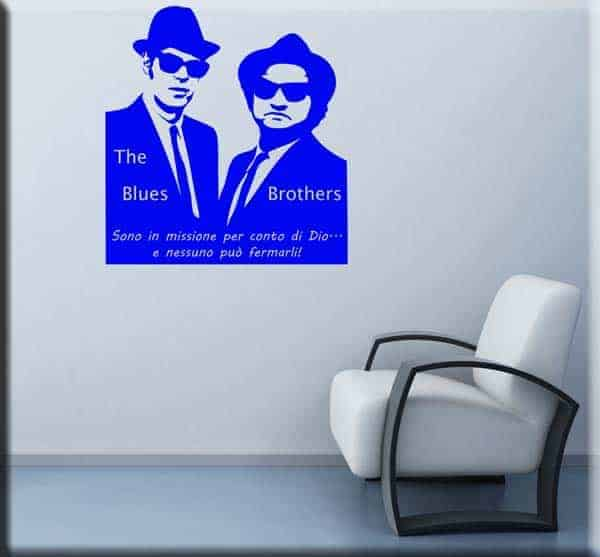Adesivi murali Blues Brothers frase