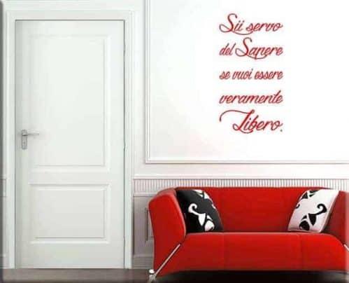 Adesivi murali frase sapere Seneca arredo