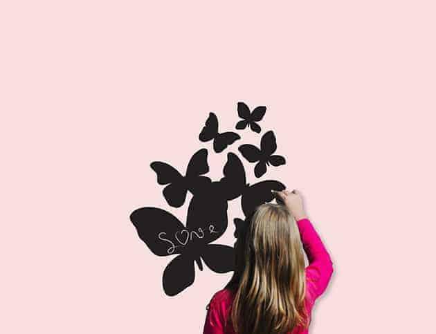 Lavagne adesive da parete farfalle arredo